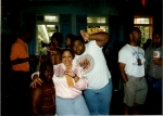 Bias, Pam V and Big T hanging out with everybody on Bourbon Street Fall 89