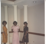 1990 Homecoming court... greeks represent! Yvette (Delta), Jazz (Delta), & Stacey (AKA)