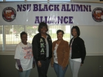 NSU BAA Officers, LaTonia Mims (Secretary), Chena Johnson (Vice President), Nicole Gray (President), LaTasha Gray (Treas