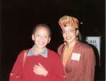 Nicole with Nikki Giovanni at Texas A&M's Southwestern Black Student Leadership Conference (1993)
